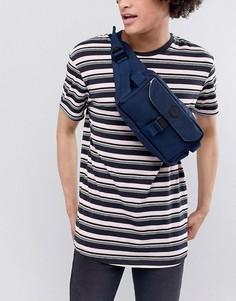 Темно-синяя нейлоновая сумка-кошелек на пояс с карманами Esprit - Темно-синий