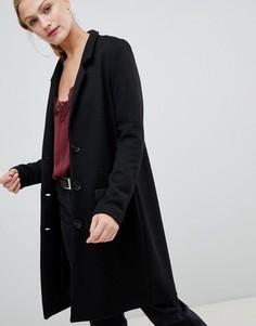 Фактурное пальто JDY - Черный