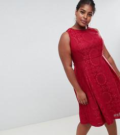 Кружевное короткое приталенное платье Lovedrobe - Красный