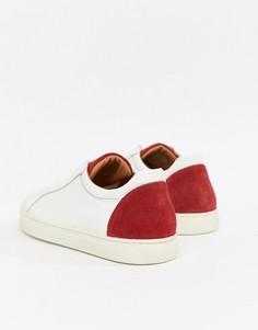 Кроссовки с контрастным задником Selected Homme Premium - Белый