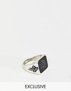 Серебристое кольцо с драконом Reclaimed Vintage inspired эксклюзивно для ASOS - Серебряный