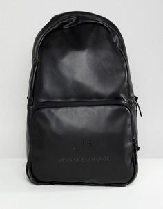 Черный рюкзак из искусственной кожи с логотипом Armani Exchange - Черный