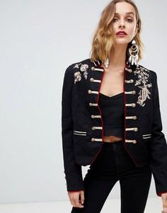 Куртка с вышивкой Free People - Черный