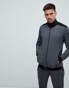 Спортивная куртка на молнии BOSS Bodywear - Черный
