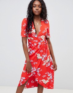 Платье миди с запахом Glamorous - Красный