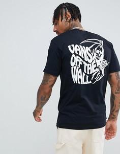Черная футболка с принтом Vans VN0A3HQZBLK1 - Черный