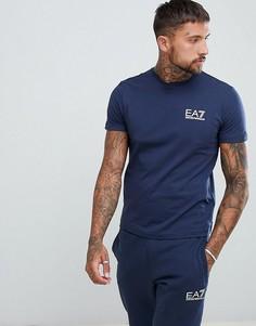 Темно-синяя футболка с логотипом EA7 Train Core ID - Темно-синий