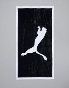 Черное полотенце Puma Football 053377-01 - Черный