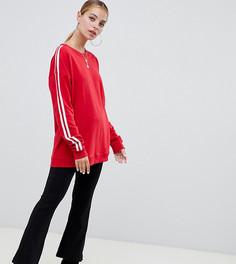 Красный свитшот с полосками на рукавах Missguided Petite - Красный