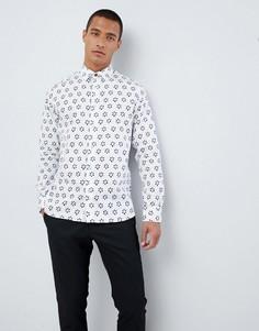 Рубашка с цветочным принтом Ted Baker - Белый