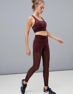 Бордовые сетчатые леггинсы Nike Pro Training Deluxe - Красный