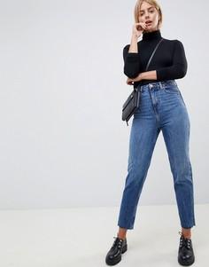 Синие выбеленные джинсы из жесткого денима в винтажном стиле ASOS DESIGN Recycled Ritson - Синий