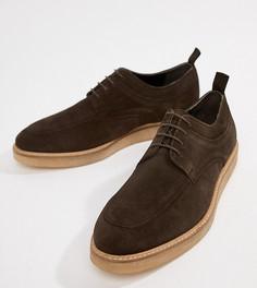 Коричневые замшевые туфли на танкетке со шнуровкой ASOS DESIGN - Коричневый