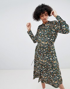 Платье-рубашка с принтом в стиле ретро Weekday - Мульти