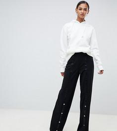 Брюки с широкими штанинами и кнопками ASOS DESIGN Tall - Черный