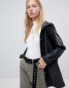 Черная водонепроницаемая куртка с капюшоном Herschel - Черный