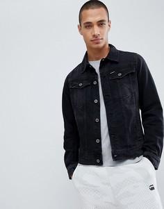 Черная приталенная джинсовая куртка G-Star BeRAW 3301 3D - Черный
