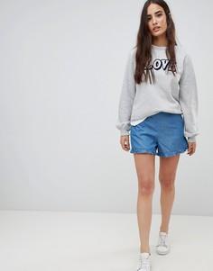 Джинсовые шорты с оборками Vila - Синий