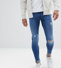 Выбеленные джинсы скинни Blend Tall - Синий