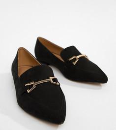 Балетки для широкой стопы с острым носком ASOS DESIGN Lance - Черный