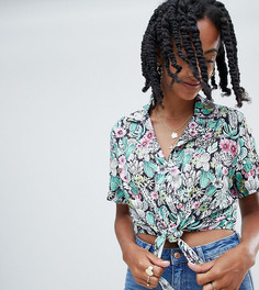 Короткая рубашка с завязкой Reclaimed Vintage inspired - Мульти