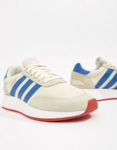 Серые кроссовки с синими вставками adidas Originals I-5923 - Серый