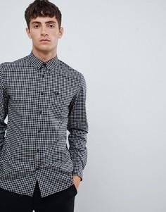 Классическая черная рубашка в клеточку Fred Perry - Черный