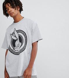 Серая oversize-футболка Reclaimed Vintage x looney tunes - Зеленый