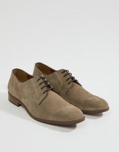 Бежевые замшевые туфли на шнуровке Dune - Бежевый
