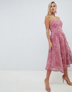 Кружевное платье для выпускного Forever New - Розовый