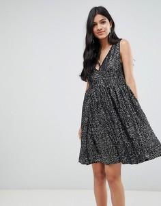 Платье миди с пайетками Deby Debo Techna - Черный