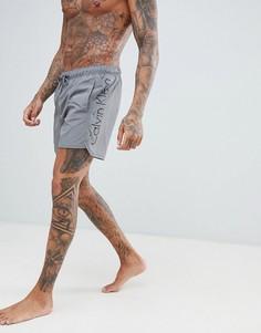 Шорты для плавания с затягивающимся шнурком Calvin Klein - Серый