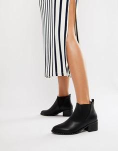 Черные ботинки челси с заклепками Boohoo - Черный