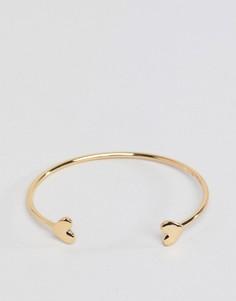 Золотистый браслет-манжет с сердцами ASOS DESIGN - Золотой