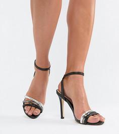 Кожаные босоножки на каблуке Aldo - Черный