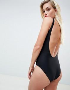 Слитный купальник с принтом Moschino - Черный