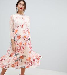 Платье миди с цветочным принтом Mamalicious - Мульти Mama.Licious