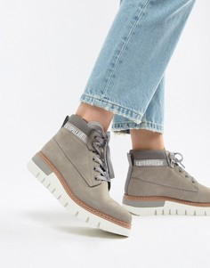 Ботинки на шнуровке Caterpillar - Серый