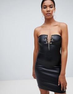 Джинсовое платье с покрытием Missguided - Черный