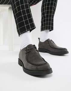 Серые вельветовые ботинки на шнуровке ASOS DESIGN - Серый