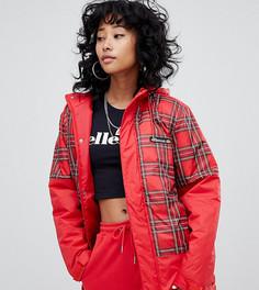 Куртка в клетку с вышитым логотипом на груди Ellesse - Красный