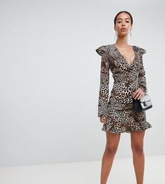 Мини-юбка с леопардовым принтом Fashion Union tall - Мульти