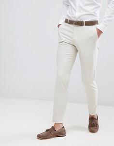 Светло-бежевые зауженные брюки Moss London - Светло-бежевый