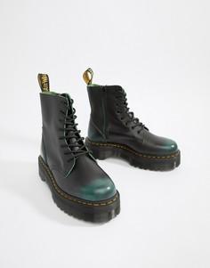 Dr Martens Jadon 8-eye chunky sole boots in green - Зеленый