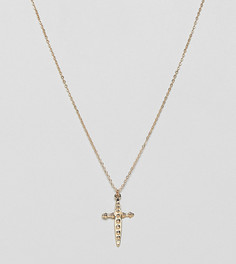 Золотистое ожерелье с подвеской Designb London - Золотой