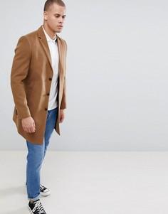 Светло-коричневое пальто New Look - Рыжий