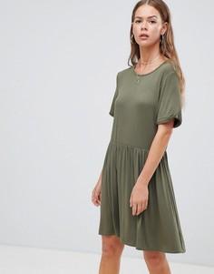 Зеленое свободное платье Boohoo - Серый