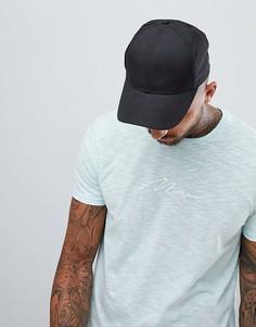 Обтягивающая футболка мятного цвета с вышивкой boohooMAN - Зеленый