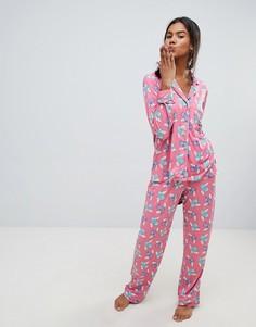Пижама с принтом Chelsea Peers - Красный