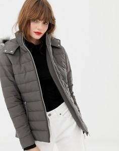 Дутое пальто New Look - Серый